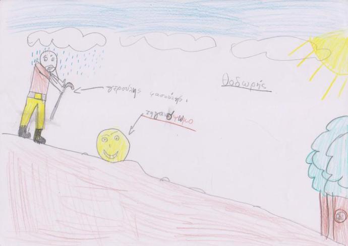 """Ο φίλος μας ο Θοδωρής ζωγράφισε με αφορμή το παραμύθι """"Η ιστορία ενός καλοψημένου τηγανόψωμου"""""""
