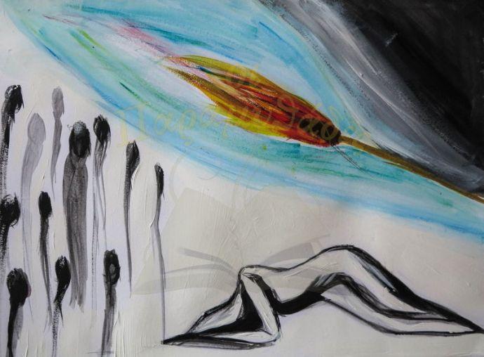 Ζωγραφιά της Όλγας Κακουλίδου.