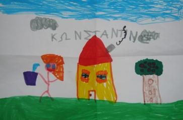 Η ζωγραφιά δώρο για εμάς, από τον μικρό Κωνσταντίνο