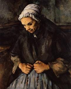 """""""Η γριά με το κομπολόι"""", έργο του Paul Cezanne στα 1895-96"""