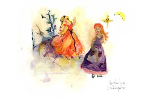 Η βασιλοπούλα ψάχνει τον σιμιγδαλένιο της. Από την ζωγράφο-εικαστικό Κωνσταντίνα Σιδηροπούλου.