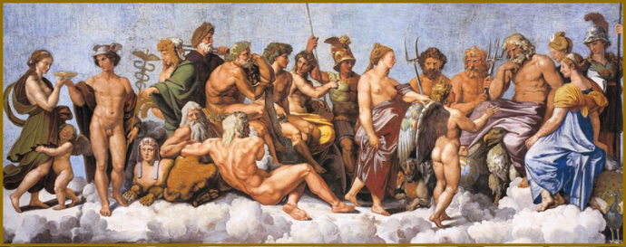 Έργο που απεικονίζει 20 αρχαίους Θεούς, από τον Raffaello Sanzio, γνωστό ως Raphael (1483-1520)